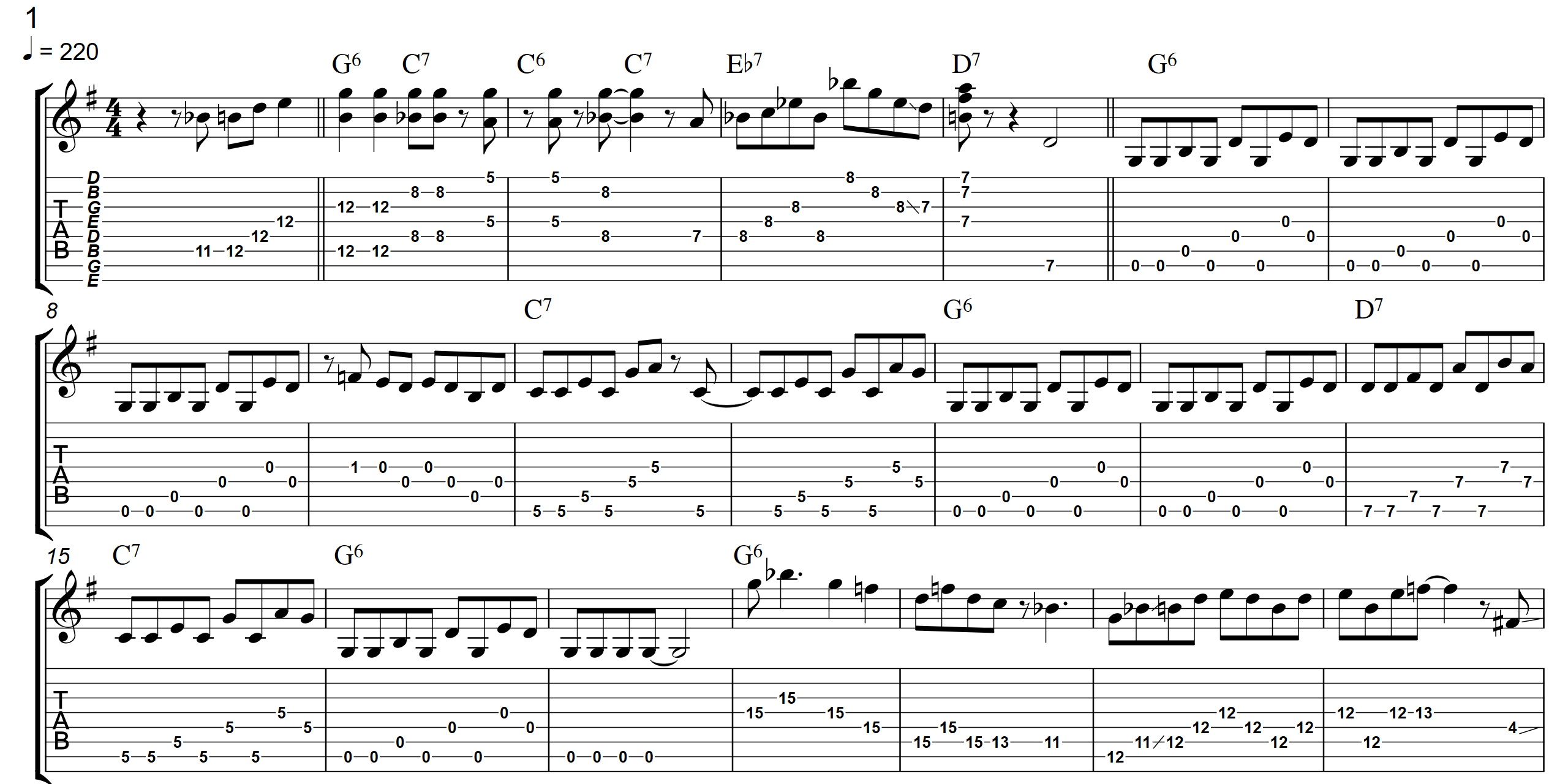 Bluegrass Boogie  TAB - Page 1 - Landscape