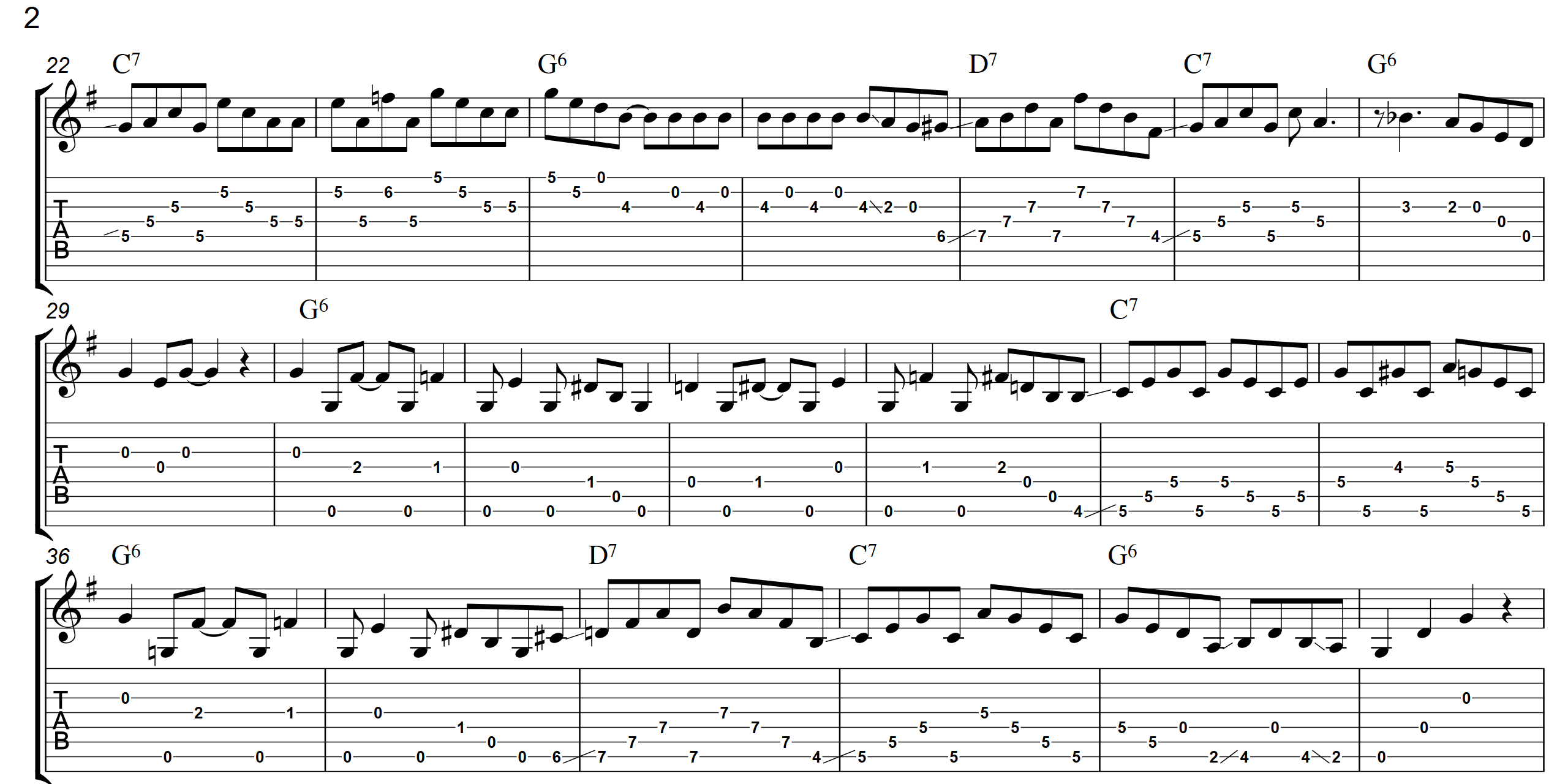 Bluegrass Boogie  TAB - Page 2 - Landscape