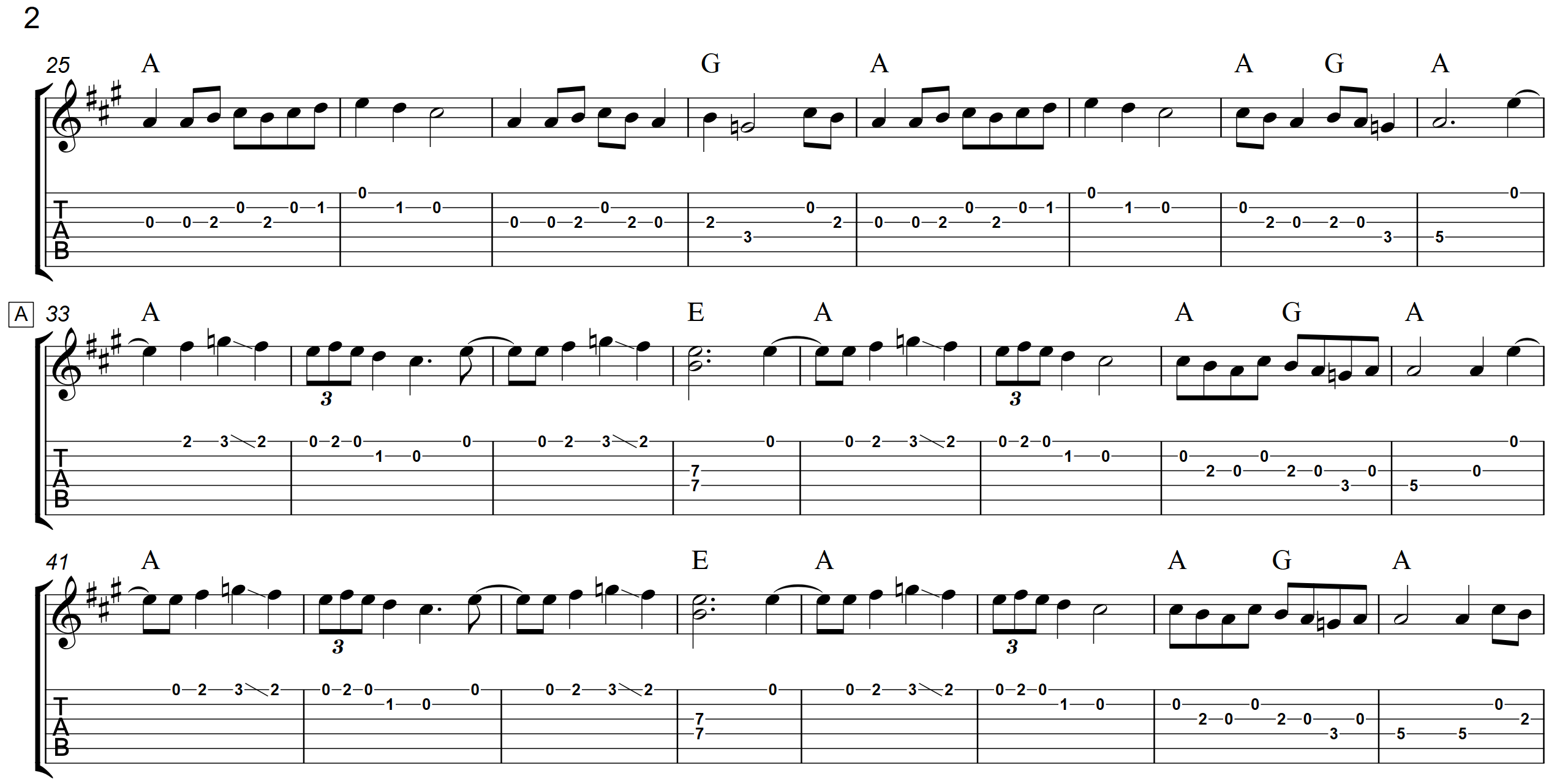 Old Joe Clark (With A Capo)  TAB - Page 2 - Landscape