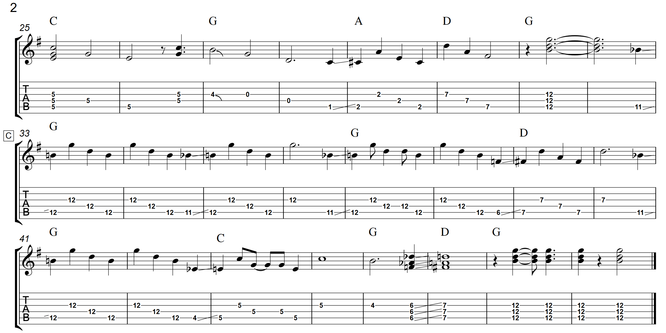 Steel Guitar Rag (Key Of G)  TAB - Page 2 - Landscape